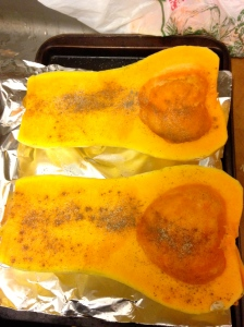 squash is ready to roast