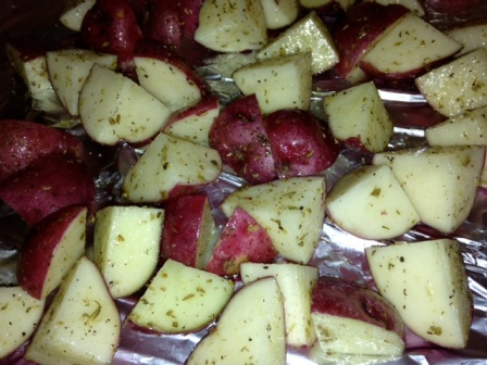 Potatoes, ready to roast!